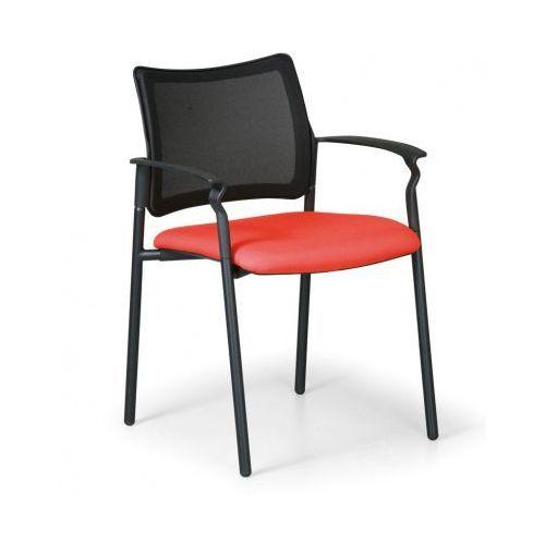 Krzesło konferencyjne Rock z podłokietnikami, pomarańczowy
