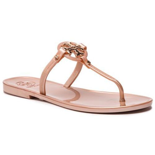 7c3c751b6 Tory Burch Japonki TORY BURCH - Mini Miller Flat ThongRose Gold 654