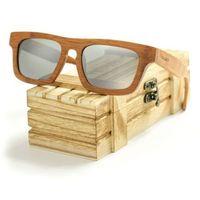 Drewniane okulary przeciwsłoneczne Niwatch Taurus Silver