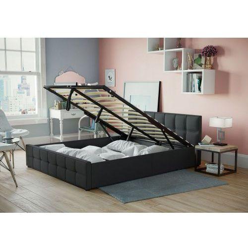 Łóżko tapicerowane do sypialni 120x200 sfg004 czarne marki Meblemwm