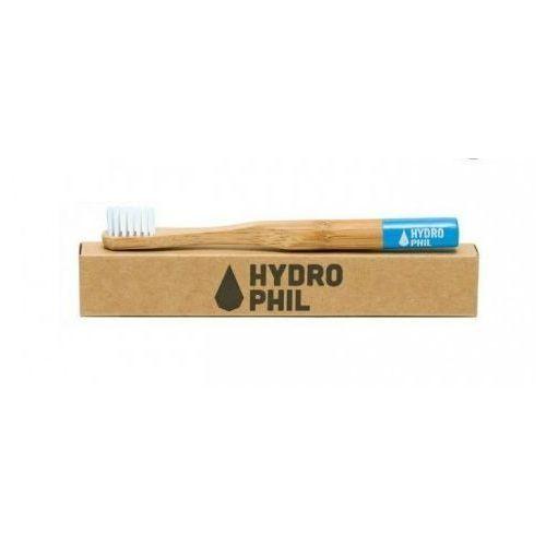 Ekologiczna szczoteczka do zębów średnia jasnoniebieska marki Hydrophil