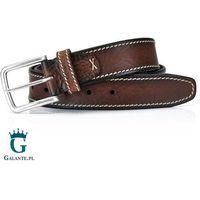 Brązowy pasek skórzany do spodni casual jeans Miguel Bellido 4715-40-5608-02