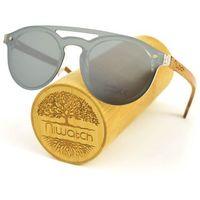 Drewniane okulary przeciwsłoneczne Niwatch Volans Silver Mirror