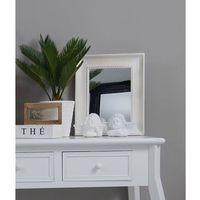 Lustro, prostokątna, drewniana rama, kolor biały. marki Design by impresje24