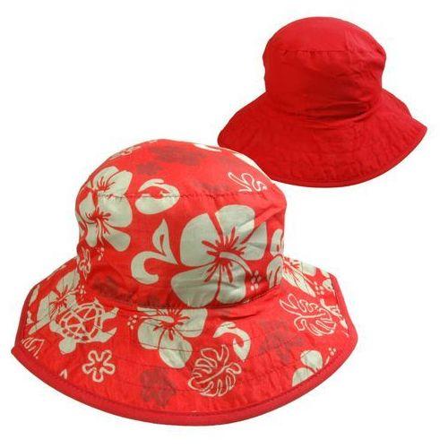 Kapelusz przeciwsłoneczny filtrem uv50 dzieci 0-2l - red floral \ 45-50cm marki Banz