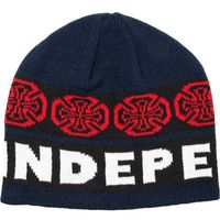 czapka zimowa INDEPENDENT - Woven Crosses Beanie BlueWhite (BLUE-WHITE)