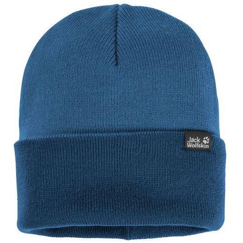 Czapka Jack Wolfskin RIB HAT indigo blue, kolor niebieski