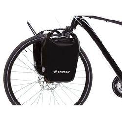 Crosso Co1010.30.01 sakwy rowerowe dry small 30l czarne zestaw na tył / przód