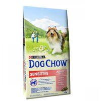 Duże opakowanie purina + karlie worki na odchody psa, 2 rolki po 20 worków gratis! - adult sensitive salmon & rice, łosoś i ryż marki Dog chow