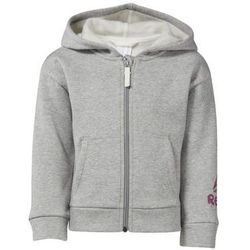 Bluzy Reebok Sport Bluza z kapturem Girls Elements Fullzip Fleece, kolor szary