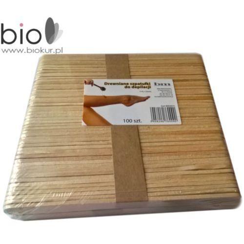 Szpatułki drewniane do depilacji – 140 mm x 10 mm – 100 szt B&m