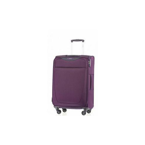 39ac5aa0e0385 SAMSONITE średnia walizka z kolekcji BASE HITS 4 koła zamek szyfrowy z  systemem TSA materiał poliester