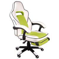 Fotel biurowy FBG biało-zielony (5902751540338)