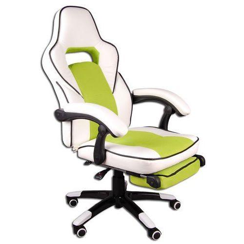 Giosedio Fotel biurowy biało-zielony, model fbg027 (5902751540338)