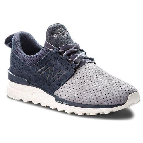 New balance Sneakersy - ws574duo granatowy