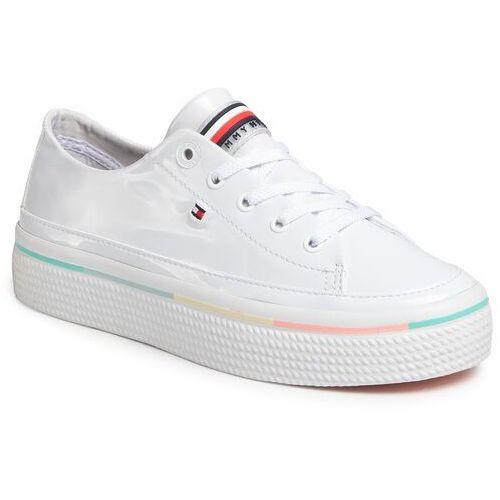 Tenisówki TOMMY HILFIGER - Striped Platform Sneaker FW0FW04710 White YBS, w 5 rozmiarach
