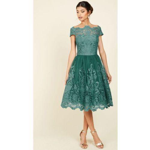 Sukienka Prom Green S, kolor zielony