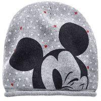 """Czapka """"Myszka Miki"""" bonprix szaro-czarno-biały z nadrukiem"""