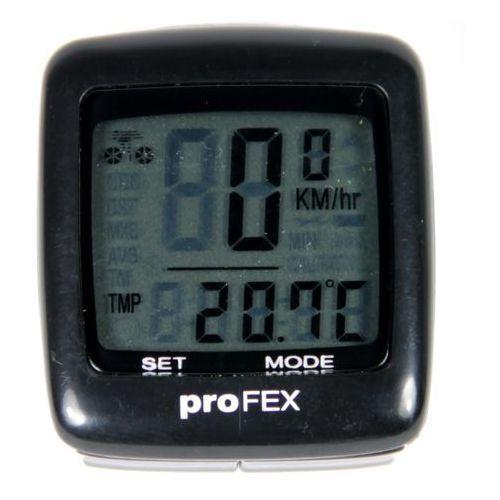Licznik rowerowy 21 funkcji czarny marki Profex