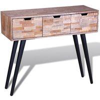 stolik z drewna tekowego odzysku/ konsola marki Vidaxl