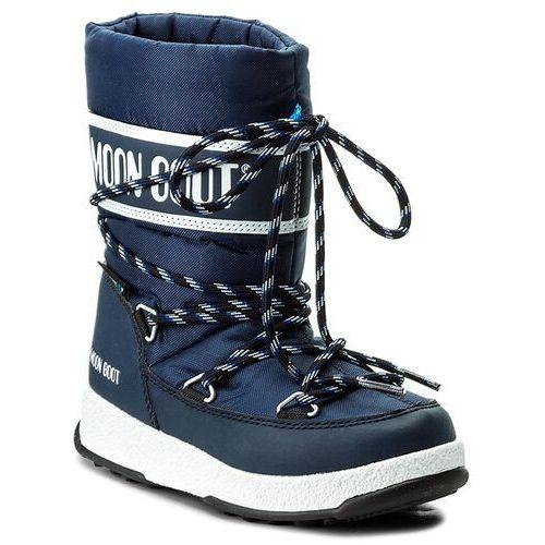 Moon boot Śniegowce - we sport jr wp 34051300002 blu navy/bianco