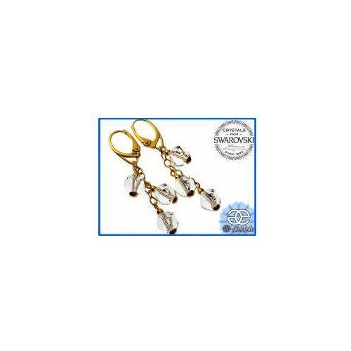 Arande Kolczyki swarovski crystal helix złote srebro
