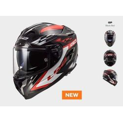 Kask ff327 challenger gp black red marki Ls2