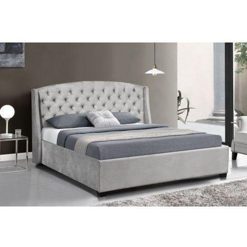łóżko Tapicerowane Do Sypialni 160x200 Sf852 Szary Welur Meblemwm