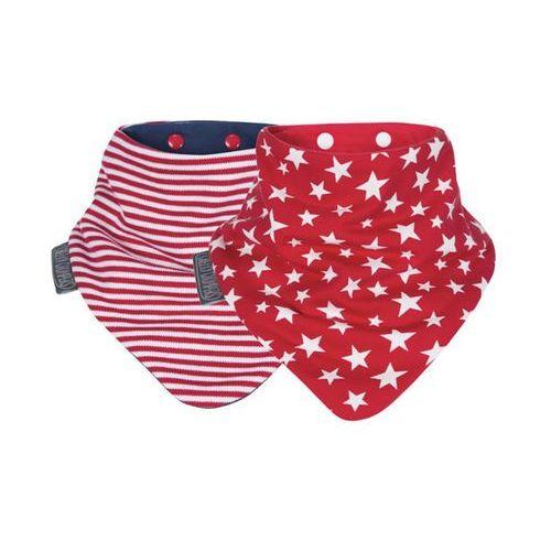 Zestaw śliniaczków red stripes & rockets neckerbibs Cheekychompers