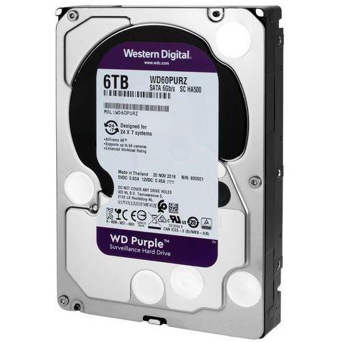 Dysk twardy do rejestratorów cyfrowych wd purple 6tb marki Western digital