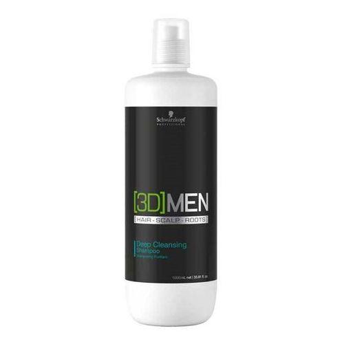 Schwarzkopf 3D MEN Deep Cleansing, szampon głęboko oczyszcza i pielęgnuje 1000ml, 1170