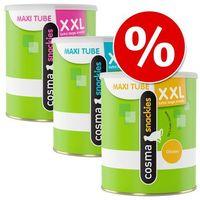 Cosma Pakiet snackies xxl maxi tube przysmak liofilizowany, 3 tubki - białoryb, 330 g (4260358514048)