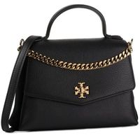 Torebka TORY BURCH - Kira Mixed-Materials Small Top-Handle Satchel 59705 Black 001