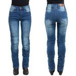 W-tec Damskie jeansowe spodnie motocyklowe lustipa, niebieski, 3xl