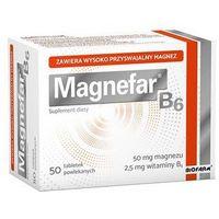Magnefar B6, 50 tabletek - Długi termin ważności! DARMOWA DOSTAWA od 39,99zł do 2kg! (5907695218244)