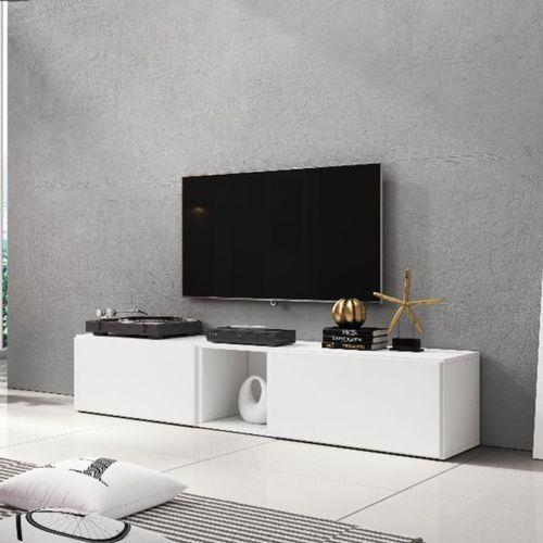 Nowoczesna Szafka Rtv Rock 10 Biały Mat High Glossy Furniture