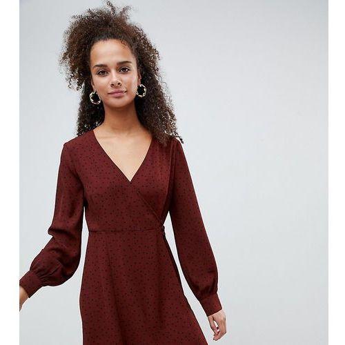 35d09d5168 Zobacz ofertę Bershka polka dot tea dress - Brown