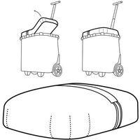Przykrywka do koszyków na zakupy reisenthel carrycruiser czarna (rog7003)