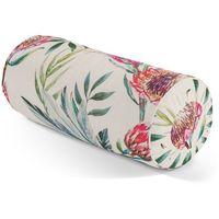 Dekoria  wałek z zakładkami, różowe kwiaty na kremowym tle, Ø 20 x 50 cm, new art