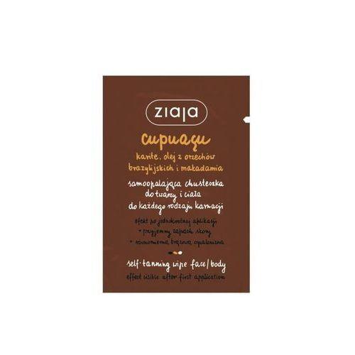 Ziaja cupuacu self-tanning wipe face & body samoopalacz 1 szt dla kobiet - Sprawdź już teraz