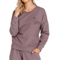 Bawełniana bluza damska Dn-nightwear DRS.4216 fioletowa