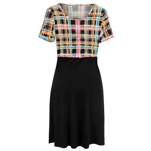 Bonprix Sukienka z haftem czarny