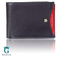 Poziomy portfel męski black&red peterson 304.01 z rfid
