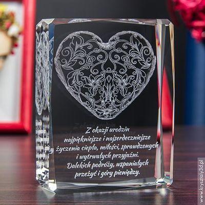 Na urodziny dla przyjaciółki  Kryształy3D.pl