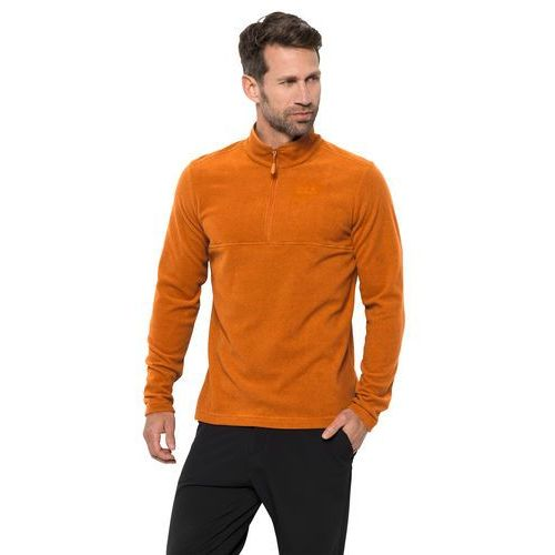 Męska bluza polarowa arco men rusty orange stripes - xl marki Jack wolfskin