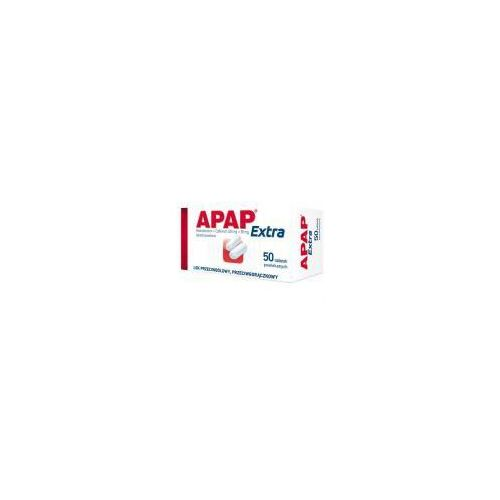 Apap Extra, (500 mg + 65 mg), tabletki powlekane, 50 szt. (butelka)