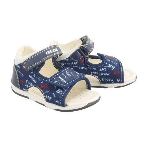 GEOX B920XA S.TAPUZ B. 0AW54 C4211 navy/white, sandały dziecięce, rozmiary: 20-25, kolor niebieski