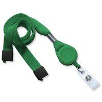 Szeroka 16mm bezpieczna smycz na szyję + brelok typu jojo (Zielony) - Zielony