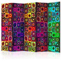 Parawan do mieszkania 5-częściowy - Kolorowy abstrakcjonizm II 225 szer. 172 wys.