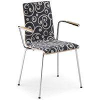 Krzesło cafe vii b plus arm (latte) marki Nowy styl